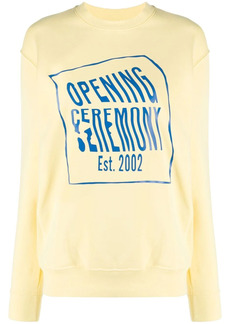 Opening Ceremony logo-print cotton sweatshirt