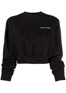 Opening Ceremony logo-print cropped sweatshirt
