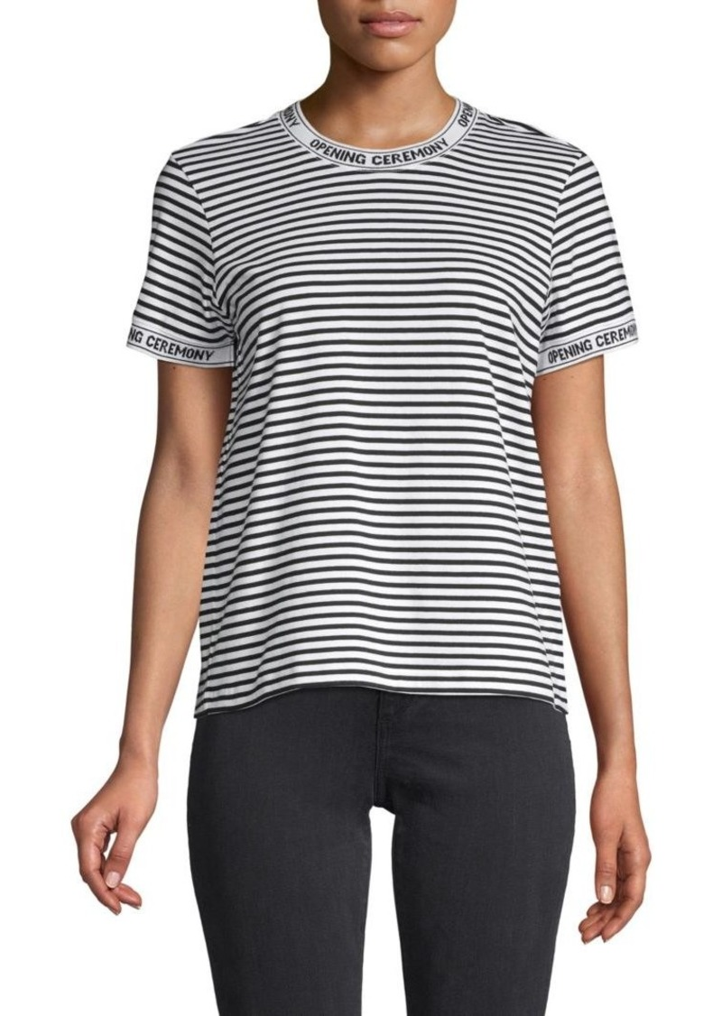 Opening Ceremony Logo-Trim Stripe Tee