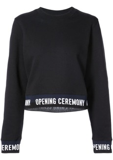 Opening Ceremony logo trim sweatshirt