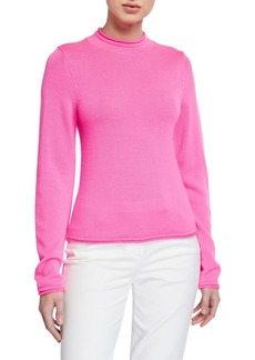 Opening Ceremony Long-Sleeve Fluorescent Knit Wool Sweater