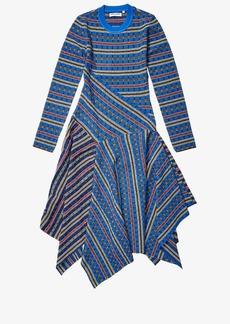 Opening Ceremony Long Sleeve Rib Knit Midi Dress