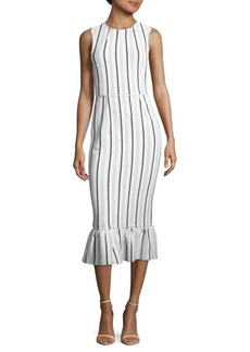 Opening Ceremony Lotus Striped Midi Dress