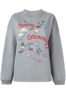 Opening Ceremony map embroidery sweatshirt