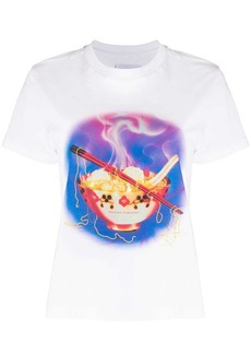 Opening Ceremony noodle-print cotton T-shirt