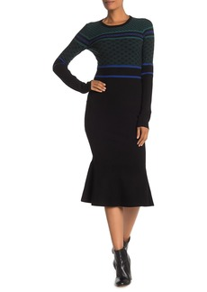 Opening Ceremony Novelty Knit Midi Dress