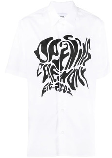 Opening Ceremony melted logo-print cotton T-shirt