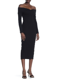 Opening Ceremony Off-the-Shoulder Bodycon Midi Dress