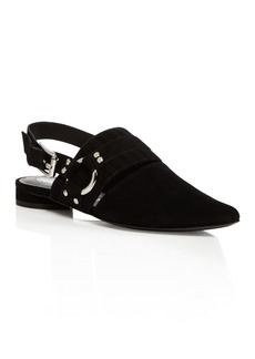 Opening Ceremony Alexx Suede Slingback Harness Flats
