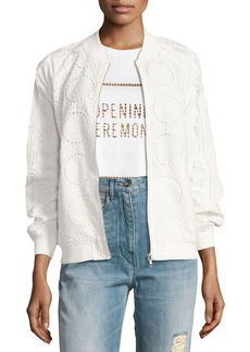 Opening Ceremony Anglaise Cotton Bomber Jacket