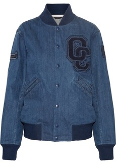 Opening Ceremony Appliquéd denim bomber jacket