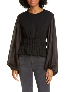 Opening Ceremony Balloon Sleeve Top