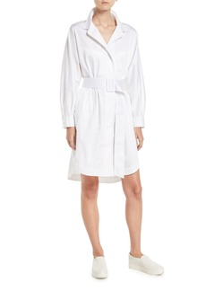 Opening Ceremony Belted Button-Front Long-Sleeve Shirtdress