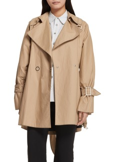 Opening Ceremony Bonded Poplin Trench Coat