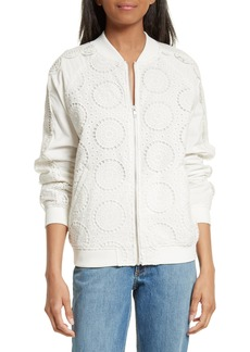 Opening Ceremony Broderie Anglaise Bomber Jacket