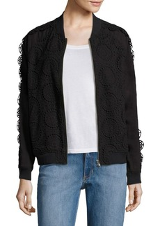 Opening Ceremony Broderie Anglaise Cotton Bomber Jacket