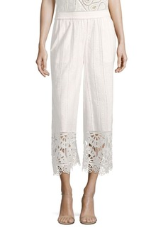 Opening Ceremony Broderie Anglaise Cotton Culottes
