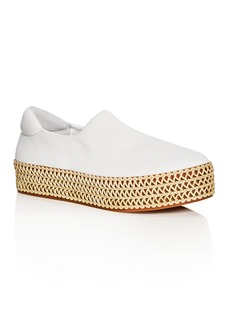 Opening Ceremony Cici Woven Platform Slip-On Sneakers