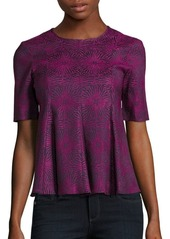 Opening Ceremony Crewneck Pleated Jacquard Top