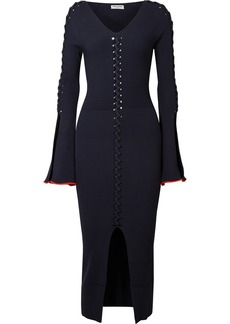 Opening Ceremony Criss Cross Ribbed-knit Midi Dress