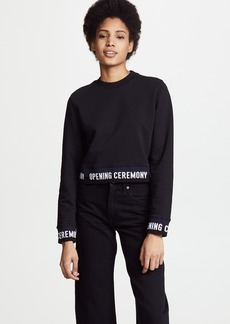 Opening Ceremony Cropped Sweatshirt with Elastic Logo