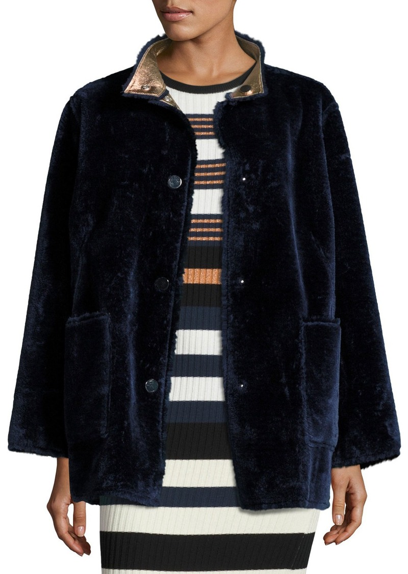 Opening Ceremony Culver Reversible Faux-Fur Coat