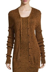 Opening Ceremony Disco Metallic Ribbed Knit Cardigan