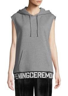 Opening Ceremony Elastic-Logo Sleeveless Hoodie Vest