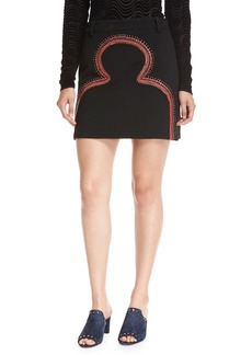 Opening Ceremony Embroidered Pencil Mini Skirt