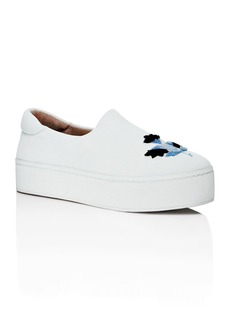 Opening Ceremony Embroidered Platform Slip-On Sneakers