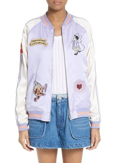 Opening Ceremony Fairytale Reversible Silk Bomber