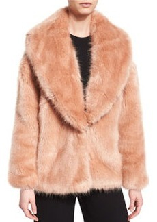 Opening Ceremony Faux-Fur Mixed-Media Cardigan