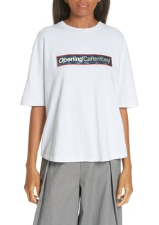 Opening Ceremony Floral Box Logo Gathered Tee