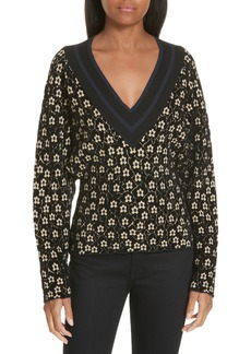 Opening Ceremony Floral Jacquard Sweater