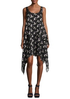 Opening Ceremony Gestures Floral Burnout Handkerchief Dress