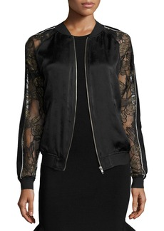 Opening Ceremony Gestures Lace & Satin Bomber Jacket