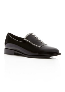 Opening Ceremony Leah Leather Faux Pearl Embellished Loafers