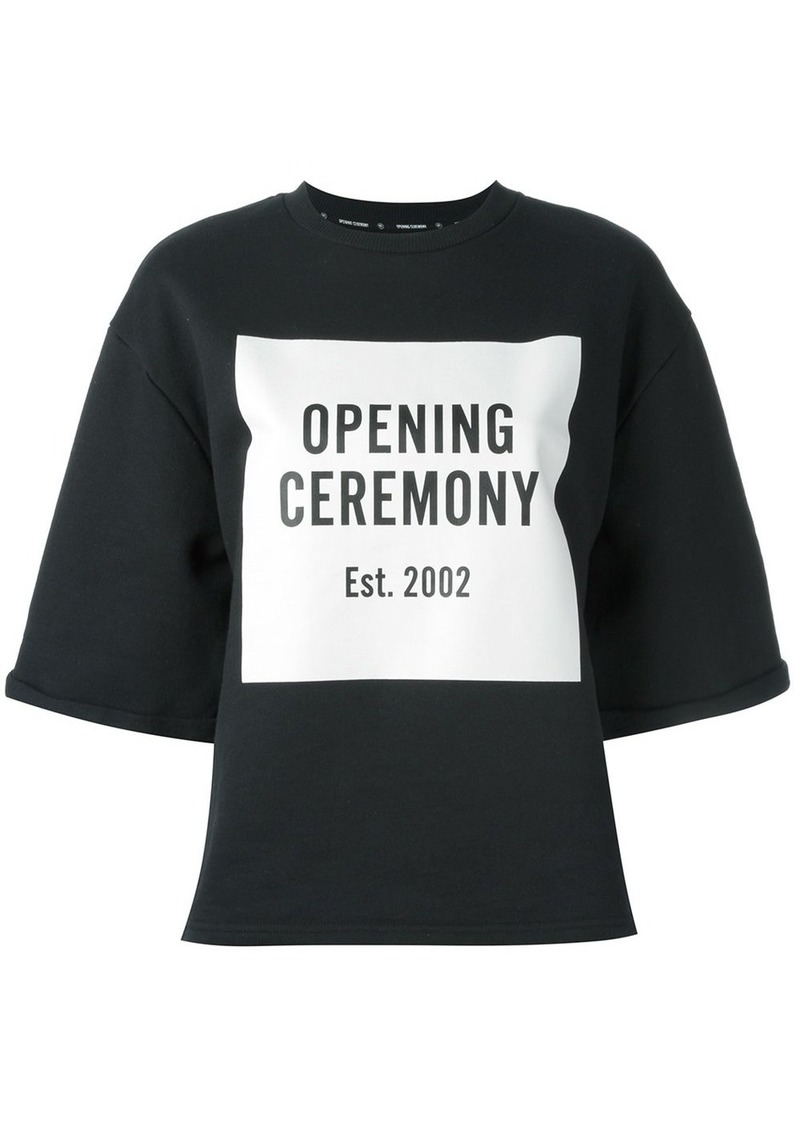 Opening Ceremony box logo sweatshirt