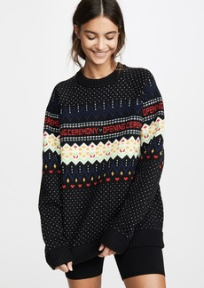 Opening Ceremony Long Sleeve Fair Isle Sweater