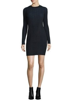 Opening Ceremony Long-Sleeve Ribbed Faux-Wrap Sweaterdress
