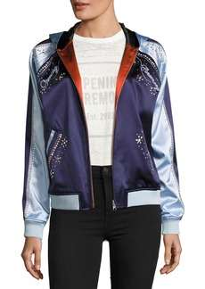 Opening Ceremony Love Stings Embellished Satin Track Jacket
