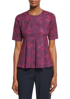 Opening Ceremony Medallion Jacquard Flared Penn Top