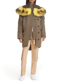 Opening Ceremony Parklife Parka with Removable Faux Fur Trim