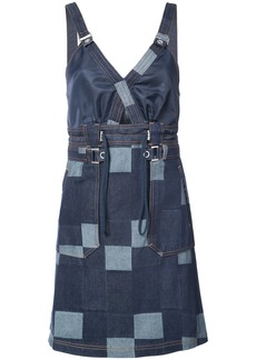 Opening Ceremony patched denim dress - Blue