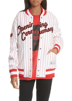 Opening Ceremony Pinstripe Varsity Jacket (Limited Edition)