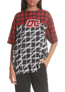 Opening Ceremony Plaid Colorblock Top