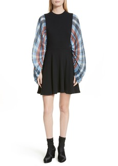 Opening Ceremony Plaid Flare Dress