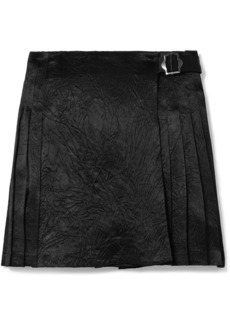 Opening Ceremony Pleated Crinkled-satin Mini Skirt