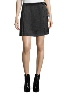 Opening Ceremony Pleated Satin Mini Skirt