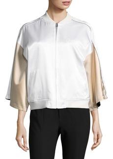 Opening Ceremony Printed Reversible Silk Bomber Jacket